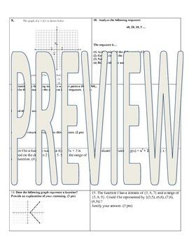 Algebra Common Core Test