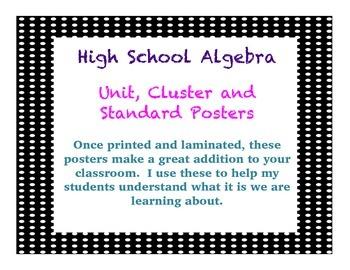 Algebra Common Core Wall Posters