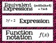 Algebra Common Core Word Wall Words- Zebra Backgrounds