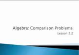 Algebra Comparison Problems - 4th Grade Go Math Lesson 2.2
