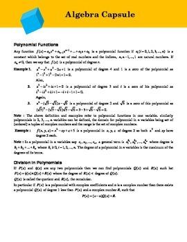 Algebra Compendium for Math Olympiad