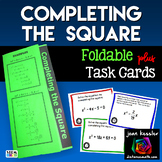 Completing the Square Task Cards and Foldable