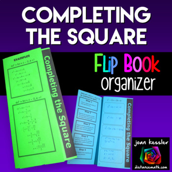 Algebra Completing the Square Foldable for Quadratic Equations