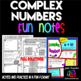 Complex Numbers FUN Notes Doodle Pages