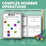 Complex Numbers Math Bingo Review Game