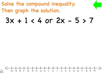 """Compound Inequalities involving """"or""""."""