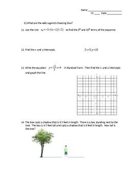 Algebra Concept Assessment