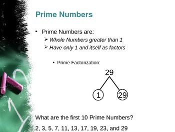 Algebra Concepts:  Prime and Composite Numbers