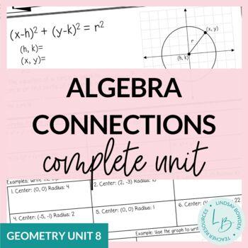 Algebra Connections Unit (Geometry Unit 8)
