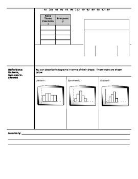 Algebra - Cornell Notes - Unit 12 - Data Analysis and Probability