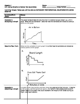 Algebra - Cornell Notes - Unit 4 - An Introduction to Functions