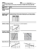 Algebra - Cornell Notes - Unit 5 - Linear Functions