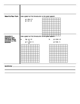 Algebra - Cornell Notes - Unit 6 - Systems of Equations and Inequalities