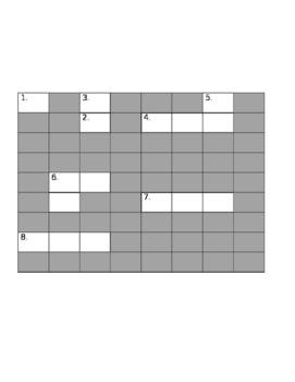 Algebra Criss-Cross Puzzle