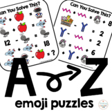 Algebra Critical Thinking A to Z Emoji Puzzles Can You Solve This