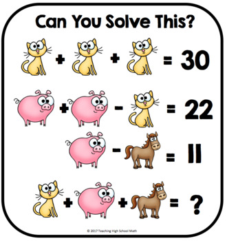 Algebra Critical Thinking Can You Solve This Equation Logic Puzzles