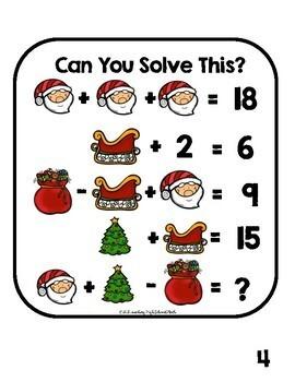 Algebra Critical Thinking  Holiday Edition Logic Puzzles