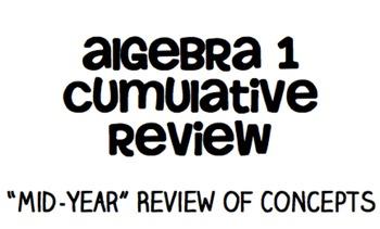 Algebra Cumulative Review