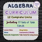 Algebra Curriculum Notes & Assessments 12 Unit BUNDLE with Google Slides