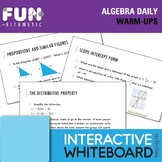 Algebra Daily Warm-Ups
