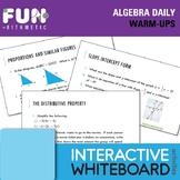 Algebra Daily Warm-Ups