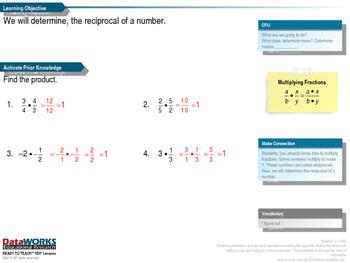 Algebra - Determine the Reciprocal of a Number (EDI)