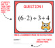 Algebra Digital Interactive Math Order of Operations