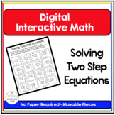 Algebra Digital Interactive Math Solving Two Step Equation