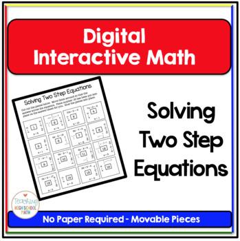 Algebra Digital Interactive Math Solving Two Step Equation
