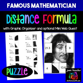 Algebra Distance Formula Famous Mathematician Puzzle