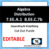 Distributive Property Algebra - Cut out Puzzle   7.EE.A.1