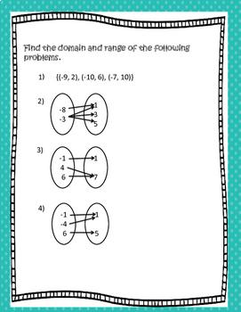 Algebra Domain and Range