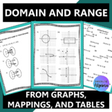 Domain and Range Scrambled Answers Activity