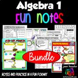 Algebra 1 No Prep FUN Notes Doodle Bundle