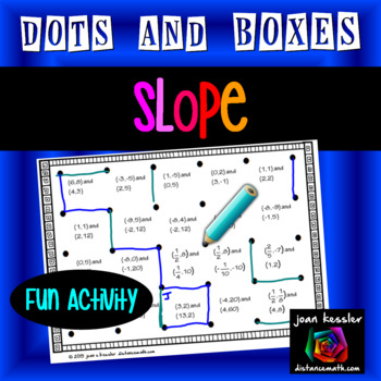 Algebra Dots and Boxes Fun Game for Slope