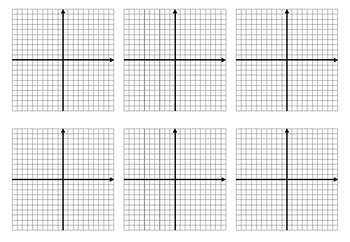 Algebra: Drawing Graphs (graphing) - blank graph HANDOUT