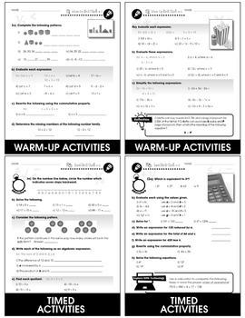 Algebra - Drill Sheets Gr. 3-5