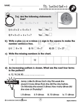 Algebra - Drill Sheets Vol. 2 Gr. PK-2
