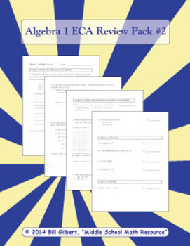 Algebra ECA Review 2 | End of Course Assessment Review Sheet for Algebra 1