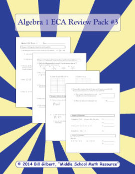 Algebra ECA Review 3 | End of Course Assessment Review Pac