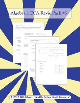 Algebra ECA Review 5 | End of Course Assessment Pack for Algebra 1