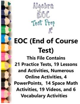 Algebra EOC (End of Course) Test Prep Teacher Supplemental Activities