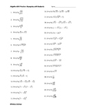 Algebra EOC Practice with Radicals