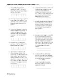 Algebra EOC Practice with Real World Examples 2