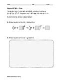 Algebra EOC Quiz - Circles BUNDLE