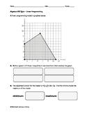 Algebra EOC Quiz - Linear Programming BUNDLE