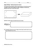 Algebra EOC Quiz - Modeling Polynomial Functions BUNDLE
