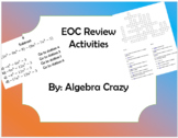 Algebra EOC Review Activity Bundle