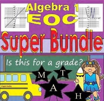 Algebra EOC Task Cards Super Bundle