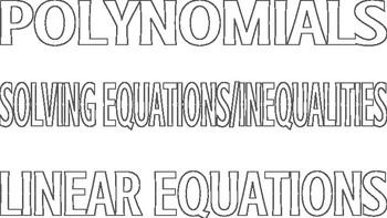 Algebra EOY Scrapbook
